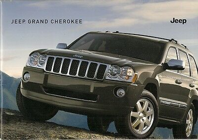 Jeep Grand Cherokee 2006 UK Market Sales Brochure Overland Limited