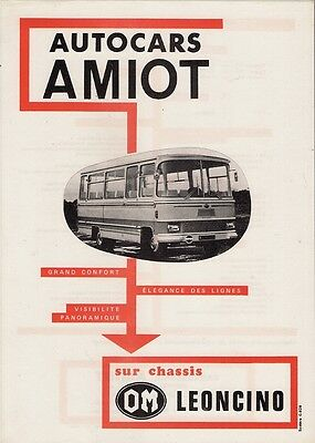 Amiot OM Leoncino Coach 1970s French Market Leaflet Sales Brochure
