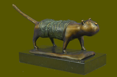 GRATIS IN BARCELONA The Botero's Cat Hand Sculpted Bronze Sculpture Figurine Art