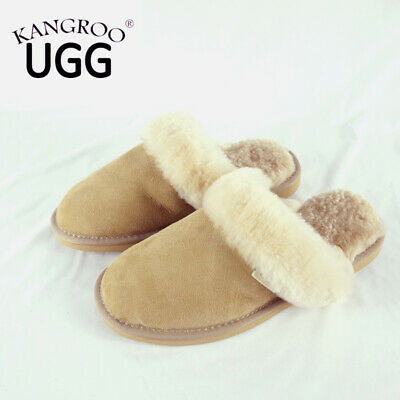 New Unisex Wool Australia Sheepskin Kangroo® Ugg Ladies/Mens Slipper Scuffs