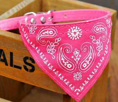 Pink Pet Dog Bow Tie Collars Dog/Cat Necklace Scarf Cute Printing Collar 1.5cm