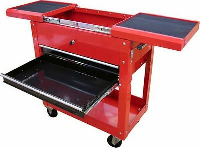 Rolling Tool Cart On Wheels Hand Tool Storage Chest Metal Trolley US Chest & Box
