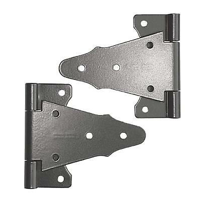 "Nuvo Iron TH6BLK TEE HINGE BLACK 6"" galvanized steel powder coated gate hardware"