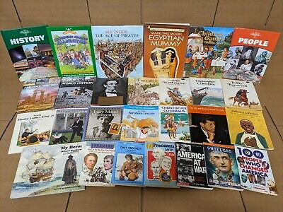 Lot of 10 US History World Constitution Scholastic Kids Child Books MIX UNSORTED