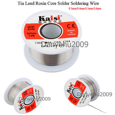 New 1 roll 50g 0.3mm-0.6mm Tin Lead Rosin Core Solder Wire cored Soldering tool