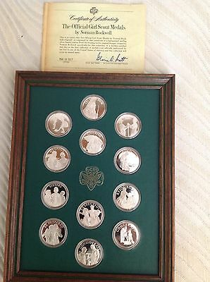 Official Girl Scout Medals By Norman Rockwell
