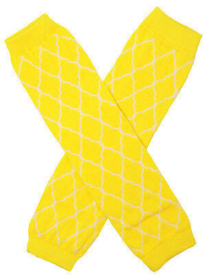NEW! Yellow and White Waverly Pattern Cotton Legwarmers 0-6 Years