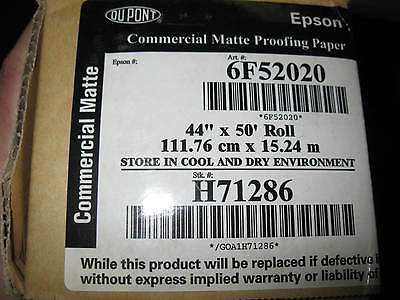 """Dupont Proofing Paper 44"""" x 50' Commercial Matte Inkjet Photo Paper"""