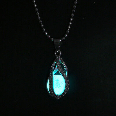 Little Mermaid's Teardrop Glow in the Dark Pendant Necklace Valentine gifts 2018