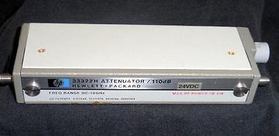 HP Agilent 33322H Opt H05 110 DB 18 Ghz Programmable Step Attenuator