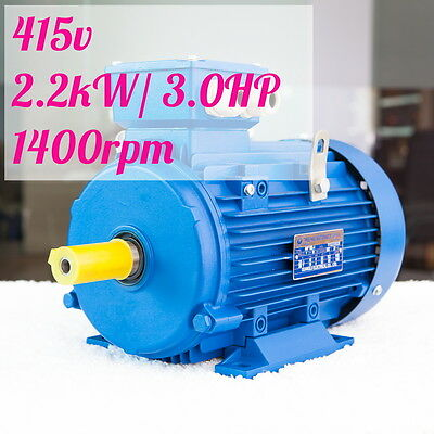 2.2kw 3HP 1400rpm shaft 28mm Electric motor Three-phase 415v