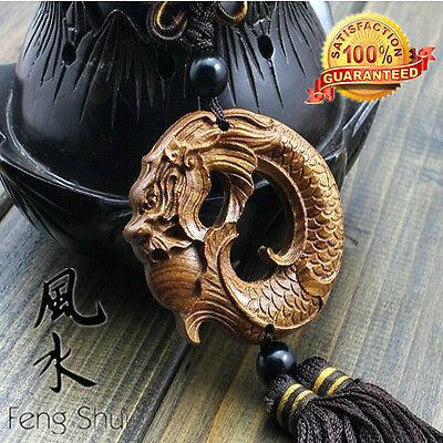Lucky Dragon  Natural Rosewood Amass Fortunes Feng Shui Collection Adornment