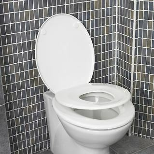 Georgia Family Toilet Seat with Child Seat - Family Friendly Potty Training Seat
