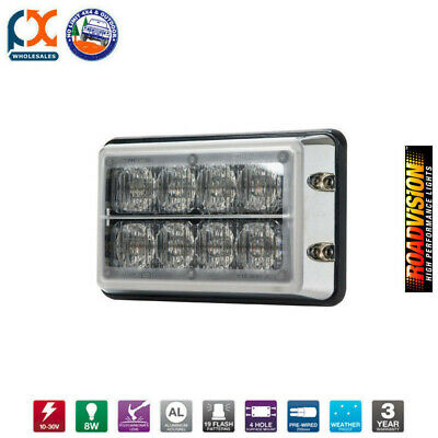 Le8Rb-C Led Strobe Light 11-30V Red/blu