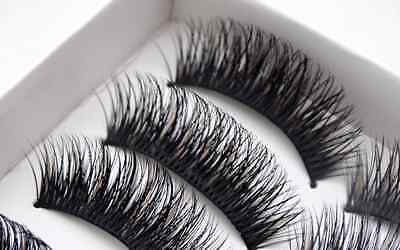 NEW BEST! 5 Pairs Long Thick Handmade Makeup Fake False Eyelashes  Eye Lashes