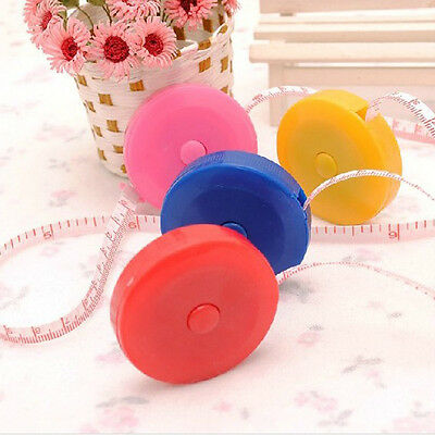 Popular 1PCS Cute Pocket Plastic Round Tape Measure Ruler Sewing Tapeline 150cm