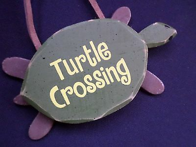Turtle Crossing Small Turtle Wood Sign Wall Art Home Beach Nautical