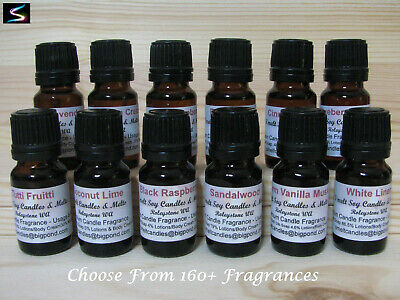 12 x 10ml Fragrance Oil For Candle Making Supplies Melts Soaps Lotions
