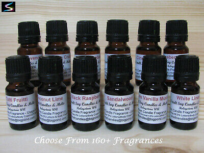 12 x 10ml Fragrance Oils Candle Making Supplies Melts Soap = $3.16 EACH