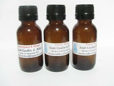 5 x 25ml Fragrance Oil For Candles, Melts, Soap Lotions. Candle Making Supplies