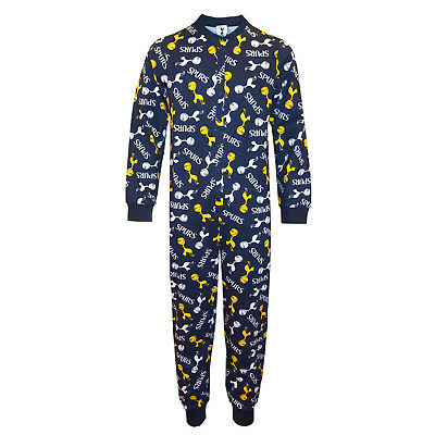 Tottenham Hotspur FC Official Football Gift Boys Kids Pyjama All-In-One