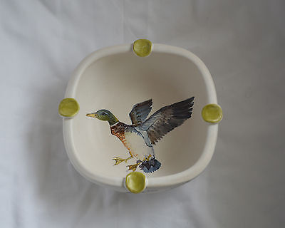 SIGNED Marcel Guillot CANARD Duck Studio Pottery Bowl France - Hand Painted