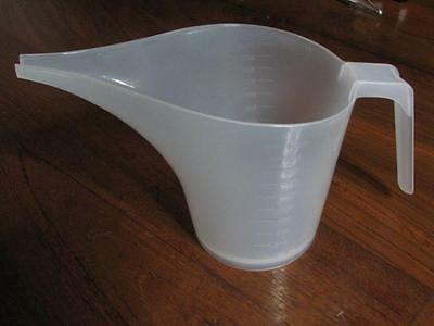 1 litre Plastic Measuring Jug, Pouring Jug, Candle Soap Making Supplies
