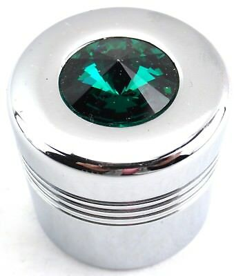 glove box knob cover green jewel chrome plastic for Peterbilt Kenworth