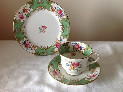 Aynsley Scala Fine Bone China Trio - Teacup, Saucer And Teaplate