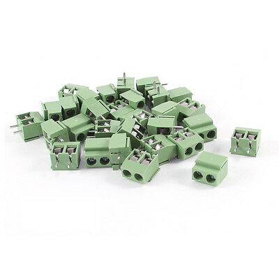 30 Pcs 2 Pole 5mm Pitch PCB Mount Screw Terminal Block 8A 250V New