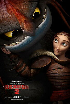 """033 How to Train Your Dragon 2 - 2014 Hot Movie Film 14""""x21"""" Poster"""