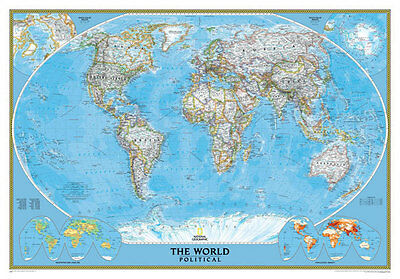 Political Map of The World Full Wall Mural Photo Wallpaper Home Decal 3D Kids