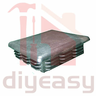Plastic End Cap Square 90x90 mm Fence Post Tube Flat Top x1