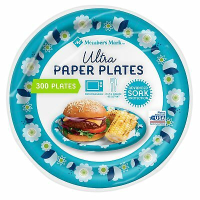 Members Mark Dixie 300 ct. Ultra Paper Plates 8 1/2 in. Heavy Duty Picnic Plate