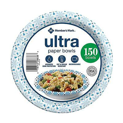 Dixie Ultra Paper Bowl 20 ounce - 135 ct Heavy Duty Disposable Picnic Bowls