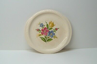 Laurella 1930's/1940's Universal Pottery Ohio Round Floral Platter/Serving Tray