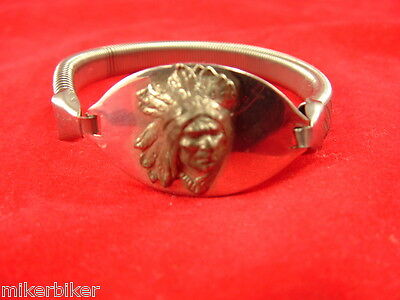 Indian Chief Four Cylinder Scout 1940's Original Bracelet sold by Indian Dealers