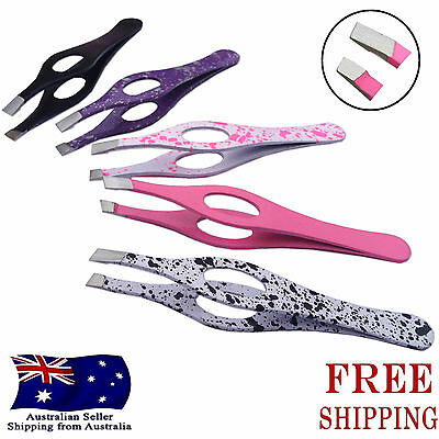 Stainless Steel Hair Eyebrow Plucker Puller Beauty Nail Slanted Tip Tweezers