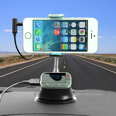 FM Transmitter Car Kit Holder Charger Handsfree MP3 Player for iPhone6 5S 5 HTC