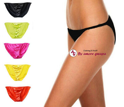 Satin Panties Briefs Underwear Lingerie Bikini Plus size 12-20