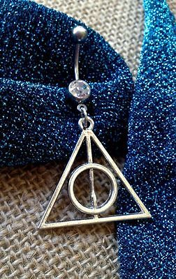 Piercing Belly Bar Ring per Ombelico TRIANGOLO DEATHLY hallows HARRY POTTER