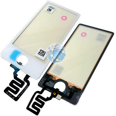 For Apple iPod Nano 7 7G 7th replacement touch screen glass digitizer white OEM