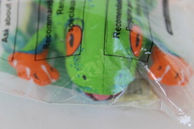 Wendy's Kids' Meal Toy Animal Planet Clip-On Green Frog 2002 Sealed Package