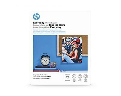 HP Everyday Glossy Inkjet Photo Paper 8 1/2 x 11 Pack of 50 Sheets