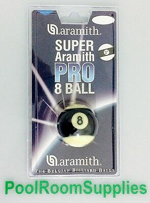 REAL Super Aramith Pro Cup 8 Ball pool ball 2 inch THE one on TV Aussie Seller