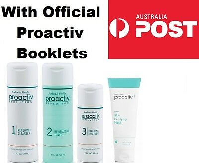 Proactiv 4 PIECE/STEP 60 DAY SET With BOXED MASK Proactive Cleanser Toner Lotion