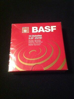 BASF 10 Diskettes 5.25 2S HD New Sealed