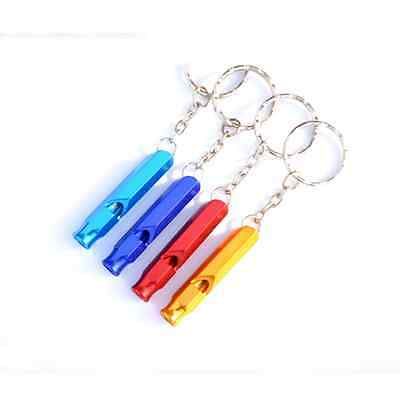 Beauty Outdoor Emergency Camping Aluminum Portable Keychain Loud Whistle Helper