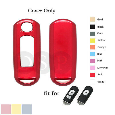Paint Metallic Color Shell Cover fit for MAZDA 3 5 6 CX-7 MX-5 Smart Key Case RD