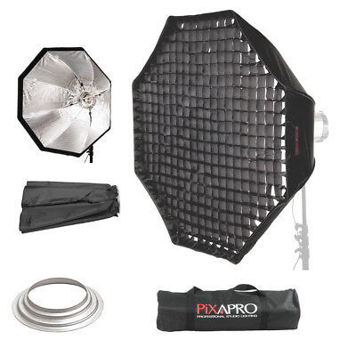 90cm Easy Open Octagon Umbrella Softbox 4cm Grid Hensel Fitting Octabox 35.4""